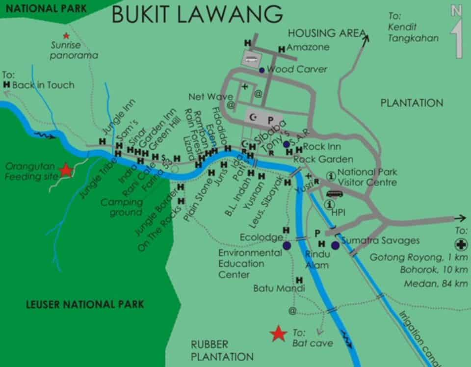Accommodatie Bukit Lawang