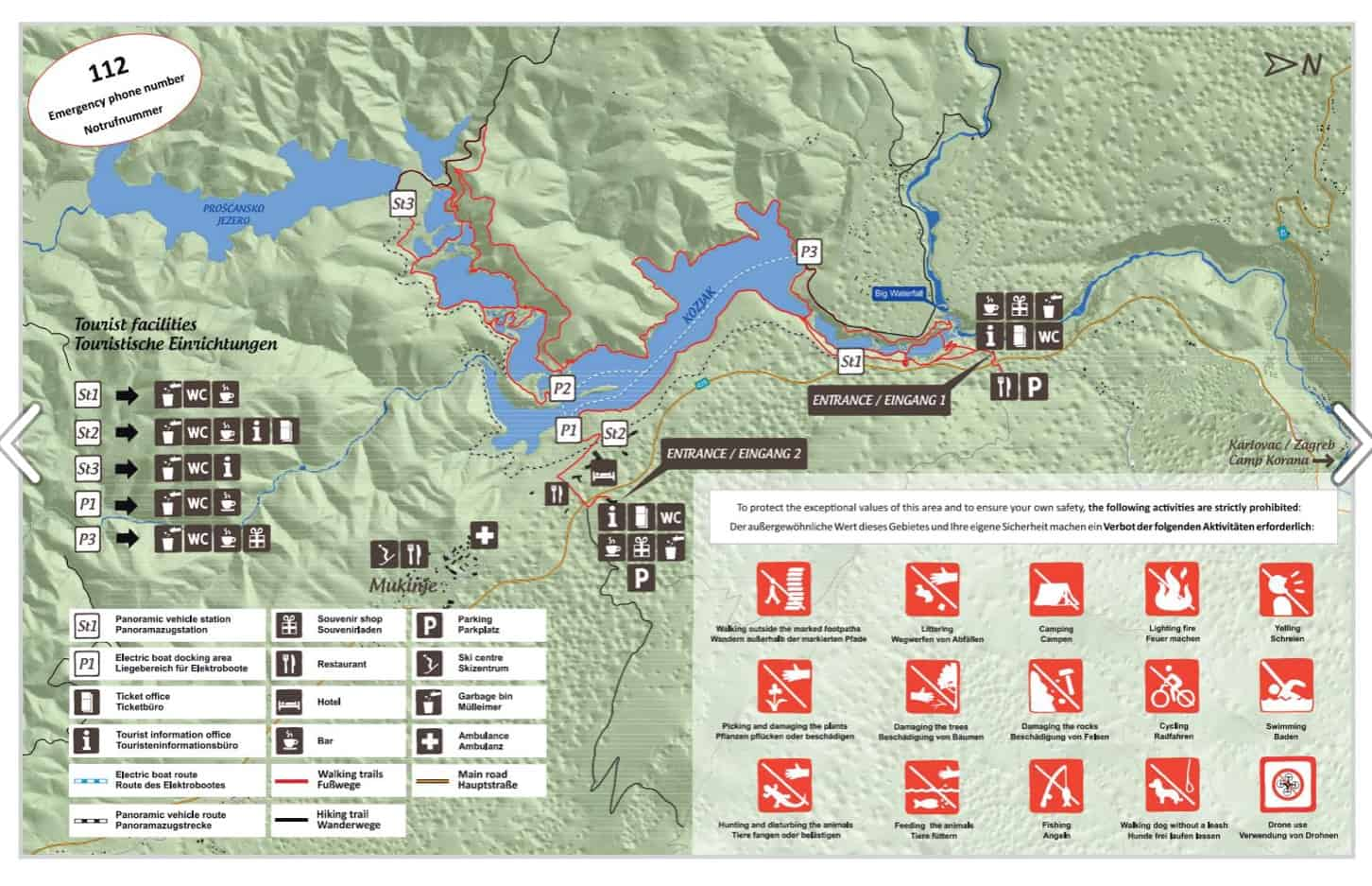 map plitvice national park