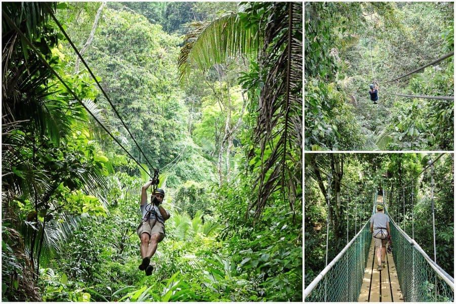ziplinen in Belize