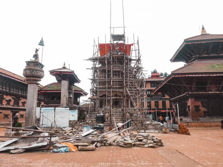 sporen aardbeving Nepal