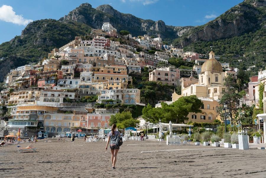 Positano amalfi kust italie