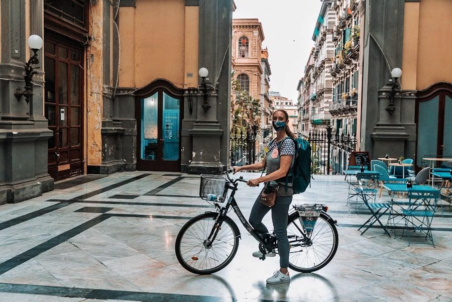 fietsen in Napels
