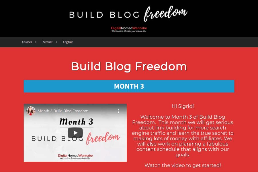 build blog freedom